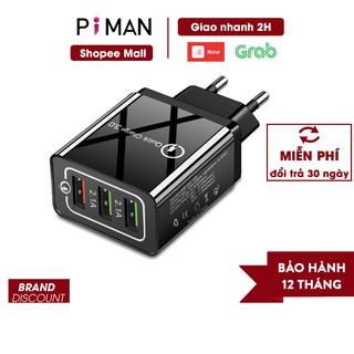 Củ sạc nhanh di động quick charge 3.0 18w sạc nhanh kéo dài tuổi thọ cho pin Piman P212 thumbnail