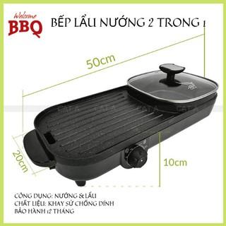Bếp Lẩu Nướng cao cấp  màu đen - Bếp lẩu nướng điện không khói - Đa dụng, tiện lợi !
