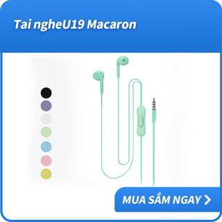 Tai nghe nhét tai có dây U19 giắc cắm 3.5mm tích hợp micro chất lượng cao dành cho Android & iOS