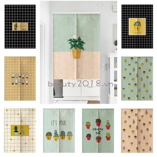 Rèm cửa ngắn làm vách ngăn phong cách Nhật Bản cho phòng bếp/phòng tắm