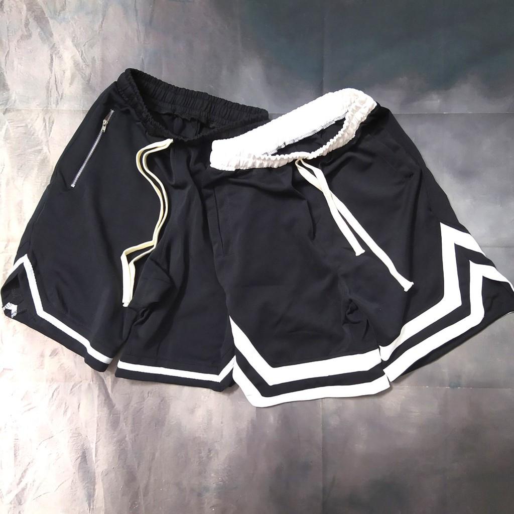 COMBO (Quần short 2v & Quần short 1v) unisex ống rộng thể thao vải thun poly 2 da dành cho nam và nữ 2020   Valu Store