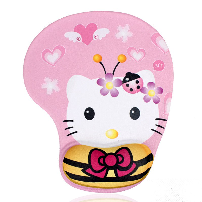 Cute Cartoon Pattern Mouse Pad with Wrist Support Gel – Hello Kitty Giá chỉ 53.879₫