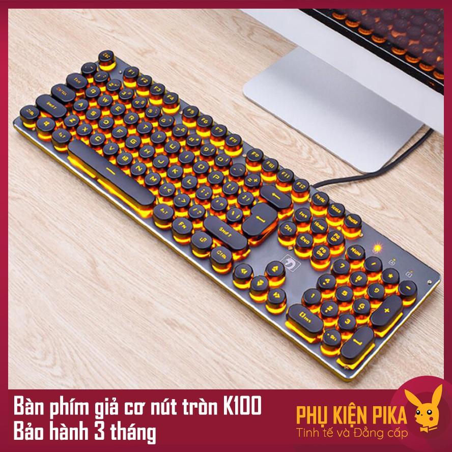 Bàn phím giả cơ game thủ K100 PKC phím tròn có đèn LED - 3333060 , 1028991843 , 322_1028991843 , 348000 , Ban-phim-gia-co-game-thu-K100-PKC-phim-tron-co-den-LED-322_1028991843 , shopee.vn , Bàn phím giả cơ game thủ K100 PKC phím tròn có đèn LED