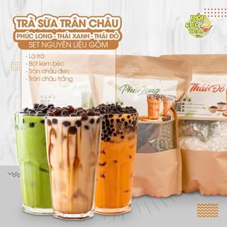 Set nguyên liệu pha trà sữa trân châu (25-30 Ly) – BẾP CHÈ THÁI