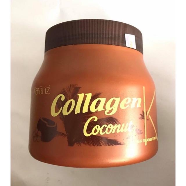 Hấp dầu mềm mượt collagen và dừa karanz 1000ml