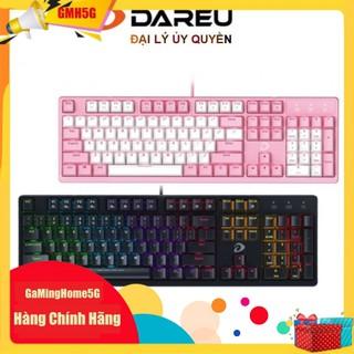 Bàn Phím Cơ Gaming DAREU EK1280s – 104KEY Pink/Black – MULTI LED – Blue/ Brown/ Red D switch – Chính Hãng – B.Hành 2năm