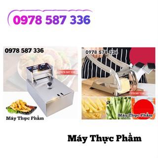 Máy Cắt Khoai Tây Vuông KFC + Bếp Chiên Khoai Tây Rán Gà Rán Giá Hủy Diệt thumbnail