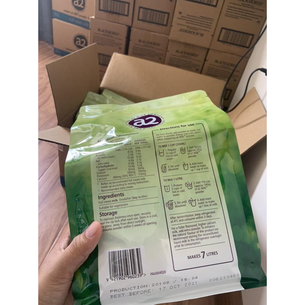 [Mã 267FMCGSALE giảm 8% đơn 500K] Sữa A2 Úc túi 1kg ( Date mới )