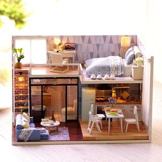 Mô Hình Ngôi Nhà Mini Bằng Gỗ Tự Làm Phong Cách Retro