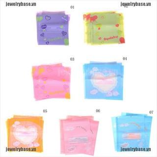 [Jewelry] 10pcs Kawaii Cute Squishy Charms Bags Holder Slow Rising Toy Storage Organizers [Basevn]
