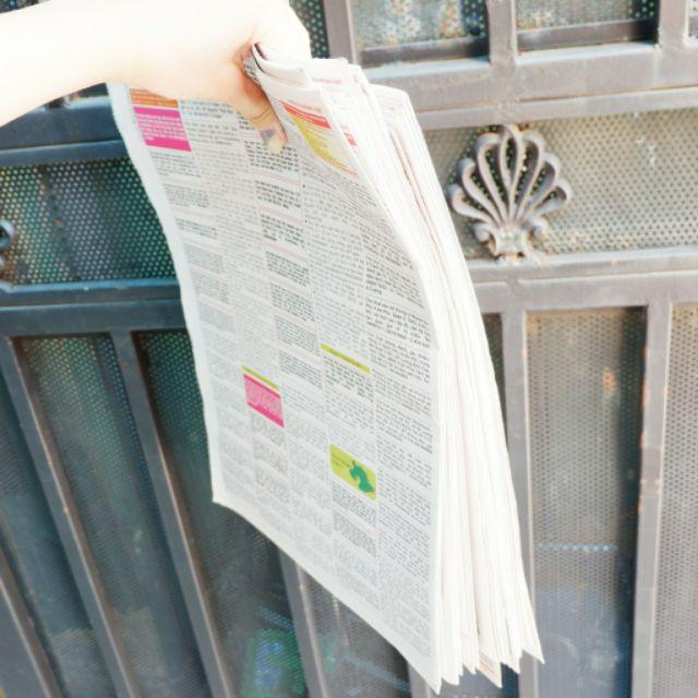 1Kg Giấy báo cũ dùng để gói quà, gói hoa quả, chèn hàng, lau kính bảo vệ môi trường