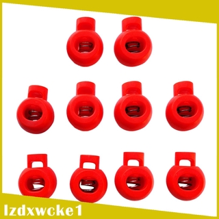 Sportfy 10 Pieces Plastic Shock Cord Rope Toggle End Lock Stoppers Ball Buckles