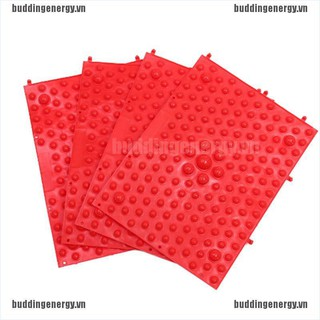 {buddi} Red acupuncture foot massager medical therapy mat foot massage pad{LJ}