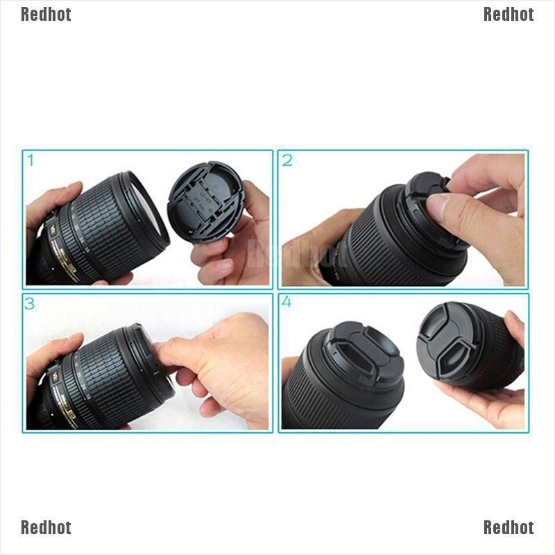Redhot 52mm 52 mm Front Lens Cap Center Snap on Lens cap for Nikon + Leash
