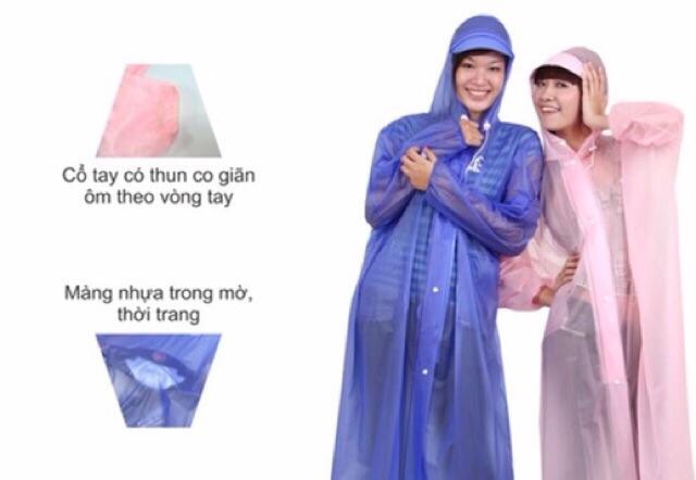 Áo mưa dây kéo trong màu Rando( sỉ ib)