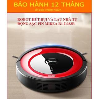 [HÀNG CHÍNH HÃNG] Robot Thông minh Hút Bụi- Lau Nhà Midea R1-L083B , Cảm Biến Chống Va Chạm, Lập Trình Sẵn Đường Đi