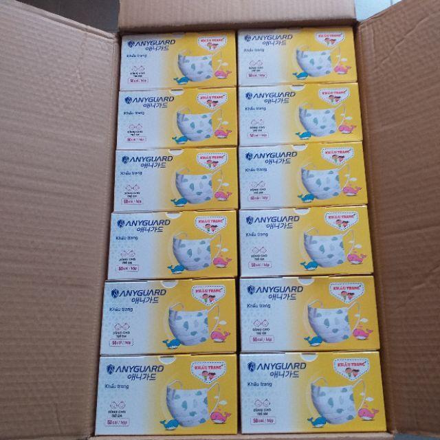 Combo 1 thùng Khẩu trang trẻ em Anyguard 60 hộp 50 cái