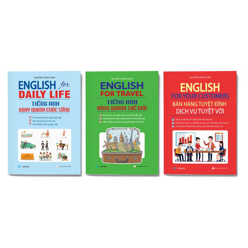 SÁCH - Combo 3 cuốn: English For Your Customers  + English For Daily Life + English For Travel