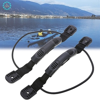 【cfh】2pcs Rubber Kayak Carry Handle Canoe Boat Side Mount Paddle with Bungee Cord Kayak Accessories