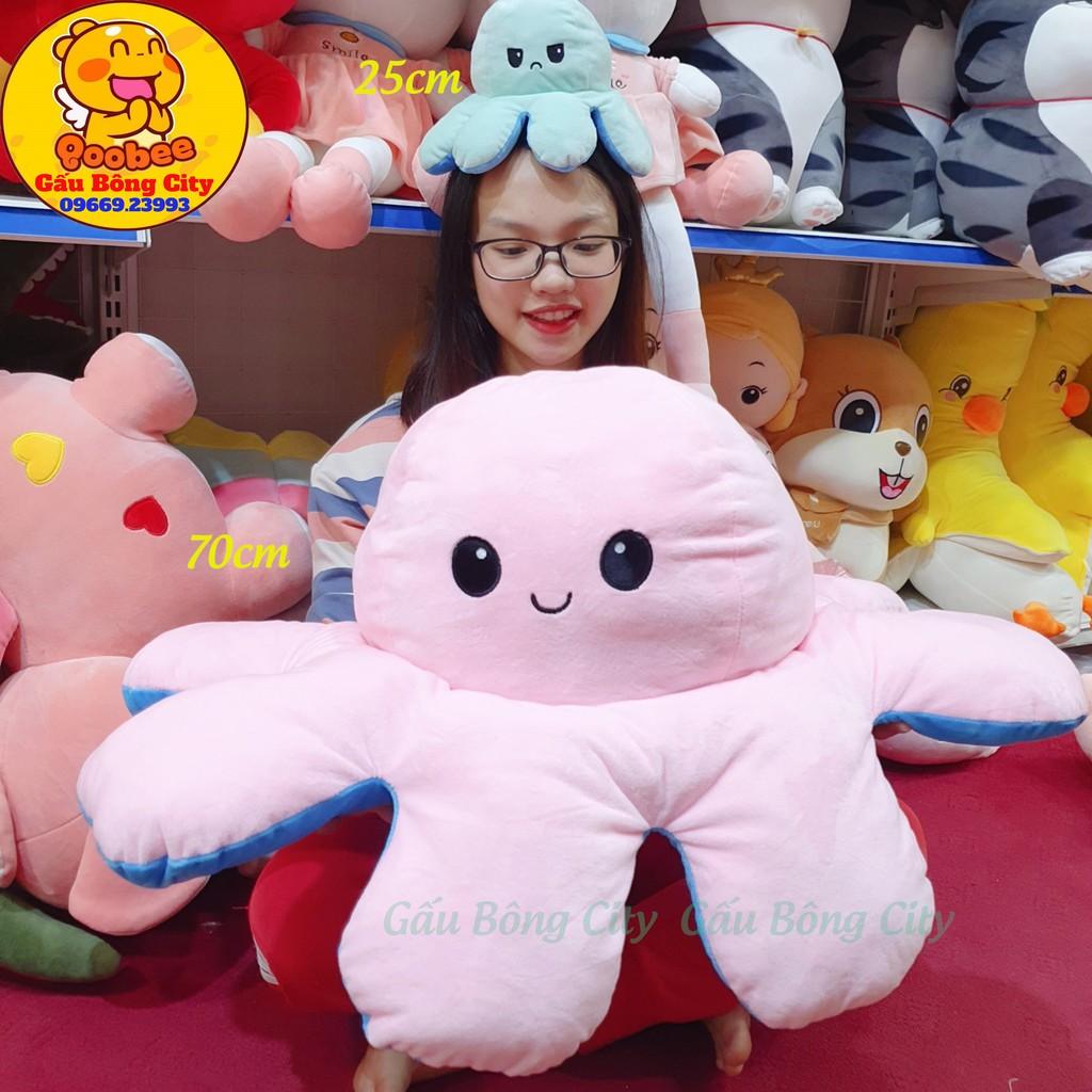 Bạch Tuộc Cảm Xúc Gấu Bông Bạch Tuột Cảm Xúc size lớn big to khổng lồ mini nhỏ S 2 mặt 20cm 25cm 30cm 40cm 60cm 70cm
