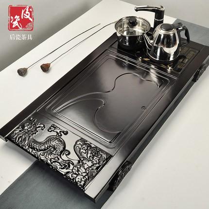 Bộ bàn trà bằng gỗ rắn cao cấp 63652