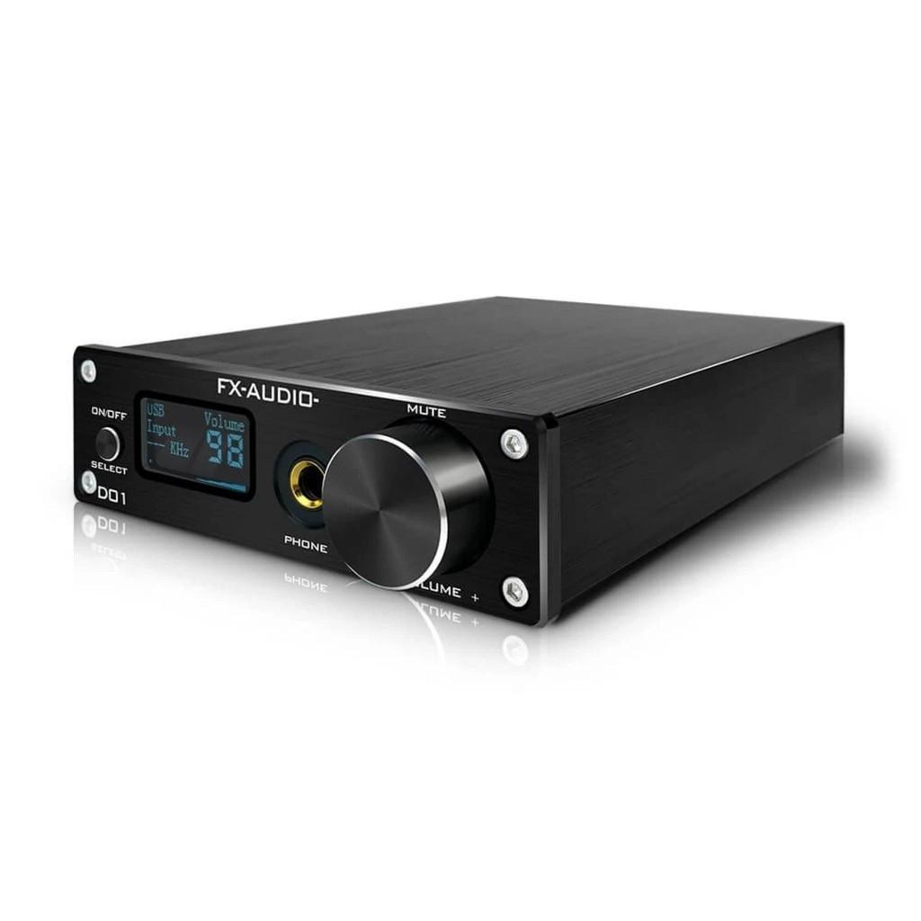 Bộ Giải Mã FX-Audio DAC D01 - Bản Nâng Cấp DAC X7- Giải Mã 32 Bit/768Khz/ DSD512- Hàng Chính Hãng