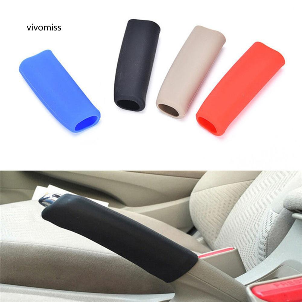 VVMS_Car Handbrake Covers Sleeve Anti-slip Hand Brake Grips Auto Silicone Accessory