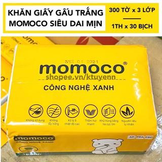 Khăn giấy gấu trắng MOMOCO dai mịn công nghệ xử lý xanh thumbnail