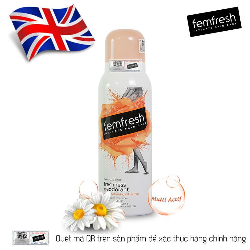 Xịt thơm mát và vệ sinh vùng kín Femfresh Deodorant Spay 125ml | Shopee  Việt Nam