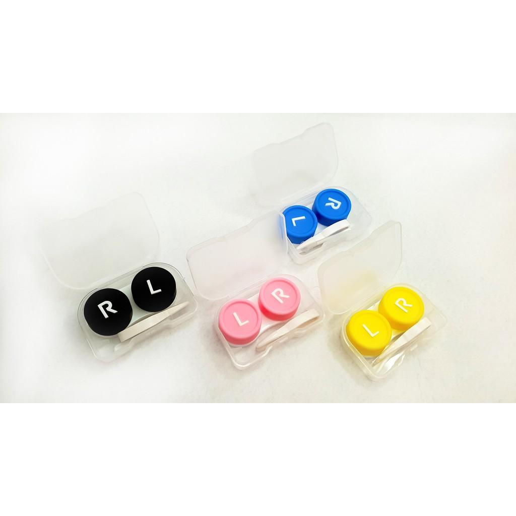Bộ dụng cụ đeo kính áp tròng đầy đủ - 01 hộp lens - 01 Khay đựng nhiều màu sắc...