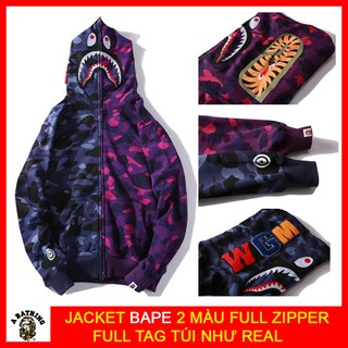 🔴[Free Ship HN/HCM] – Áo Jacket BAPE 2 MÀU 🔴