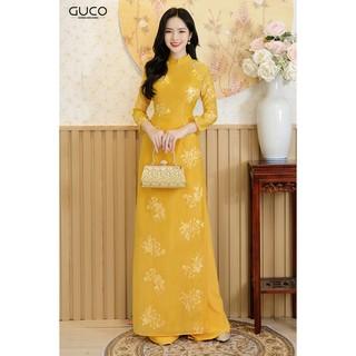 Áo dài truyền thống nữ thêu họa tiết GUCO - AD105 thumbnail