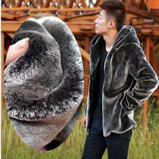 Áo Khoác Lông Chồn Có Mũ Trùm Đầu Kiểu Dáng Thời Trang Cho Nam Giới