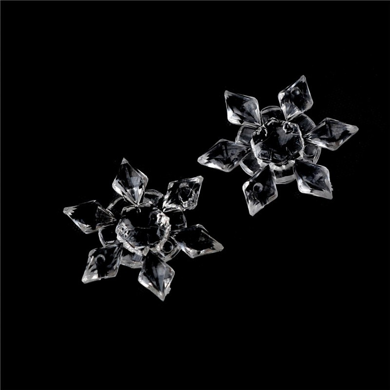 [BEW] 5Pcs Crystal Clear Acrylic Snowflakes Snowflake Ornaments Party Christmas Deco [OL]