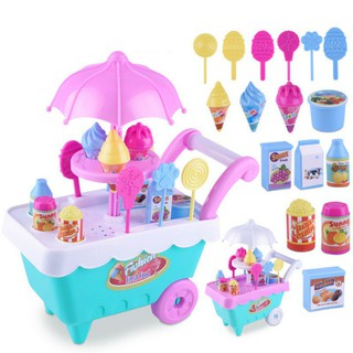 16 pcs/set Candy Ice-cream Truck Car Girl Educational Toys
