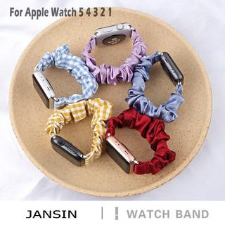 Dây Đeo Thay Thế Chất Liệu Cotton Thiết Kế Sọc Gân Thời Trang Cho Apple Watch series 6 SE 5 4 3 2 1 38mm 42mm 40mm 44mm