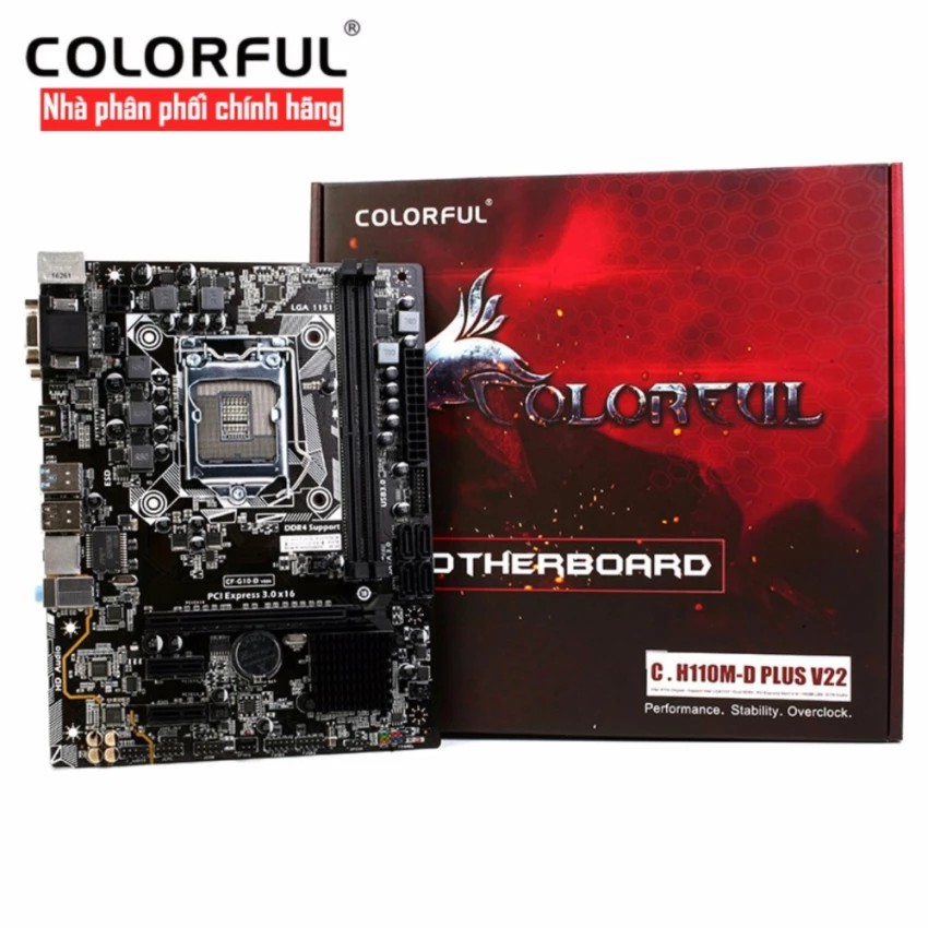 Bo mạch chủ Mainboard Colorful C. H110M - D Plus V22 LED - phân phối chính hãng