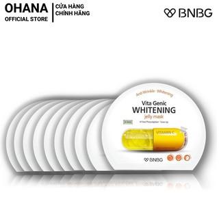 Combo 10 Whitening Dưỡng Trắng Và Làm Đều Màu Da BNBG Vita Genic Whitening Jelly Mask (Vitamin C) 30mlx10 (Vàng)