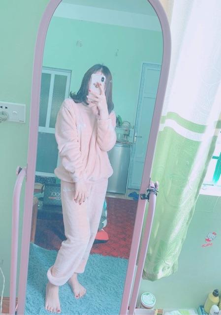 HÀNG SẴN - Bộ ngủ nhung D Studio chất liệu nhung (gồm áo và quần)