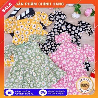 [Chính hãng Momby size 10-65kg] váy đầm cho mẹ và bé hottrend hoa cúc chất lụa đũi mềm cao cấp