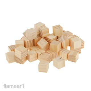 50 Wooden Square Tiles For Crafting Scrapbooking Wood Crafts 2*2cm