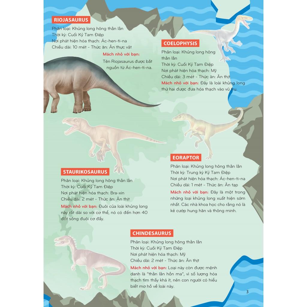 Sách - Sticker khủng long: Phát triển trí thông minh cho trẻ 4 (8 trang sticker dán hình)