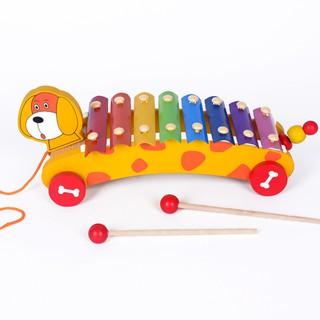 Đồ chơi gỗ - Đàn Xylophone hình xe cún kéo Vivitoys