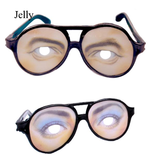 1 Pair of Funny Glasses Toy for Halloween Accessory Female or Male Style J764