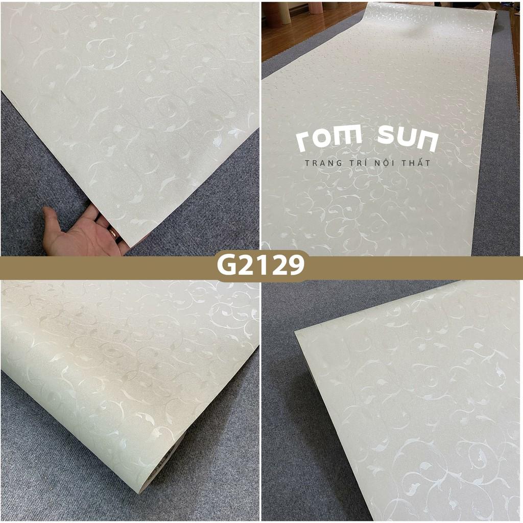 Giấy dán tường khổ 60cm 120cm Decal miếng dán tường phòng ngủ hoa văn chìm 3D hàn quốc sẵn keo