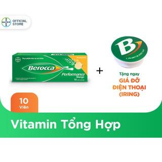 """Viên sủi bổ sung Vitamin Berocca Performance Mango 10 Viên - Tặng 1 móc gắn điện thoại giá chỉ còn <strong class=""""price"""">6.900.000.000đ</strong>"""