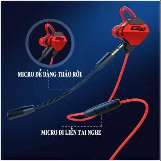 Tai Nghe Nhét Tai Gaming Microphone Rời Chơi PUBG Gamo G10