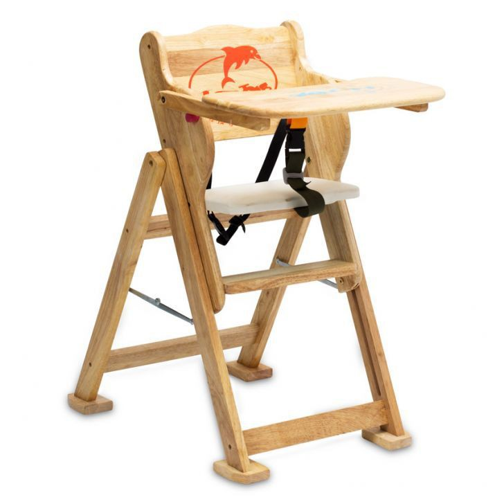 Ghế ăn dặm gỗ tự nhiên điều chỉnh 4 nấc độ cao IQ Toy kéo sang bên xem ảnh thật
