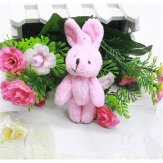 MUL❤ 2Pcs/Set 11.5 cm Wedding Gift Joint Rabbit DIY Pendant Plush Stuffe