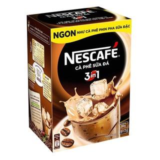 ComBo 10 Hộp Cà phê hòa tan NESCAFÉ 3in1 Cà phê sữa đá - Hộp 10 gói x 20 g
